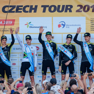 Skvělý Elkov Author, má skalp Bory / Mitchelton Scott first at TTT in Ostrava